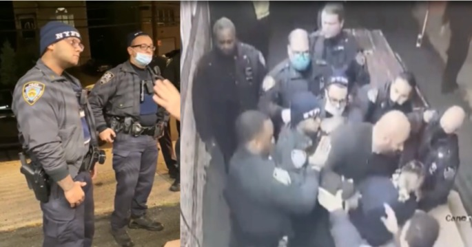 NYPD Tackle Man for not Showing ID
